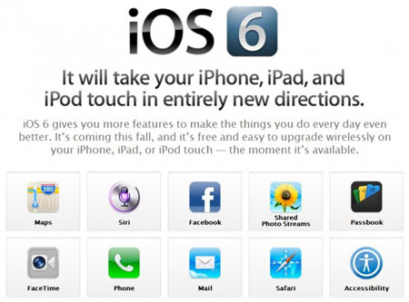 Download and Update Apple iOS 6
