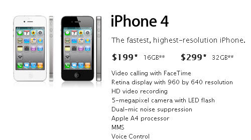 iPhone 4 price