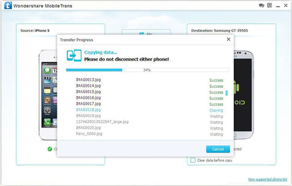 transfer files between phones