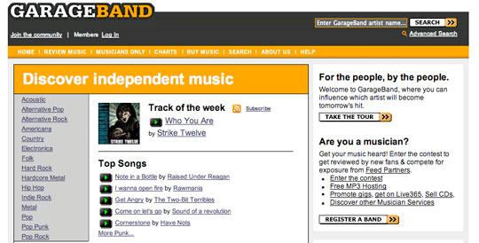 Free Music and Songs - garageband.com
