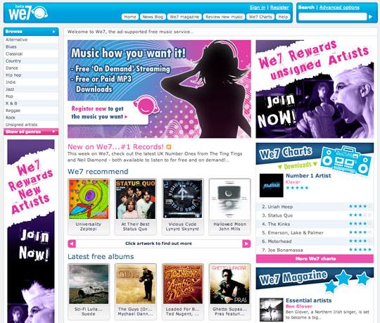 Free music - We7