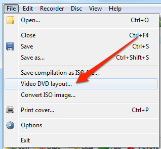 Add Converted DVD files into CDBurnerXP