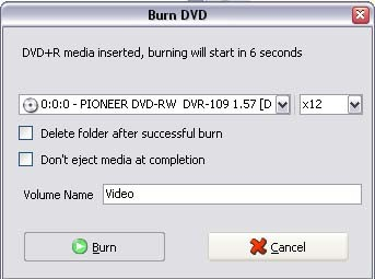 Burn movie to DVD with convertxtodvd