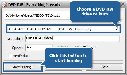 burn VHS to DVD