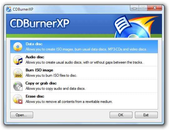 Install CDBurnerXP