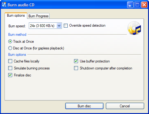 Free DVD Burning Software - CDBurnerXP