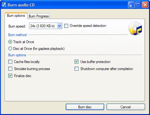Free DVD Burning Software - CDBurnerXP