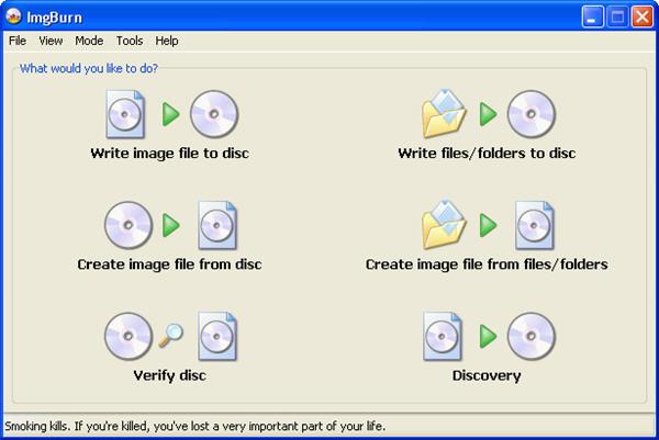 Free DVD Burning Software - ImgBurn