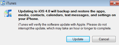 update iPhone and iPod to iOS4