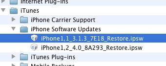 iPhone restore file