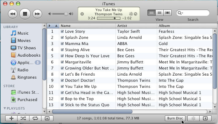 burn mp3 to cd in itunes