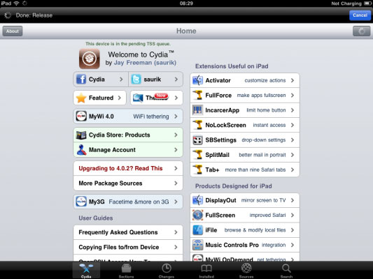 Jailbreak iPad 2 successfully