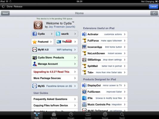 Jailbreak iPad 2 successfully