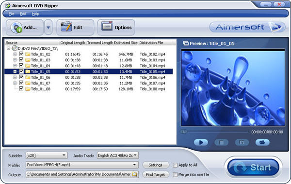 Load DVD into DVD Converter