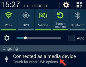 Open Note3 USB mode