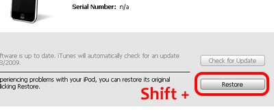 restore ipod touch