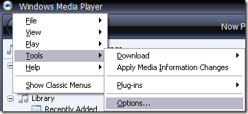 wndows media player file association