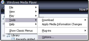 wndows media player file association