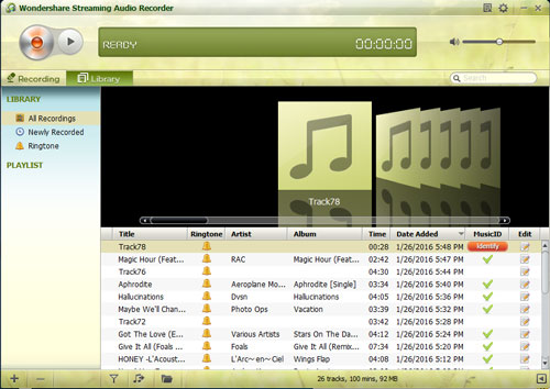 Download free music to iPhone with audio recorder