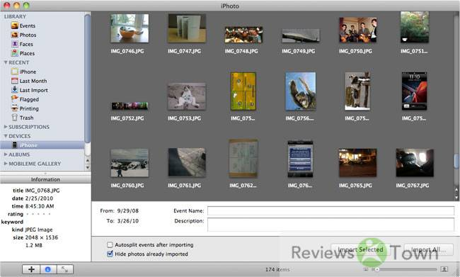 How to Import Camera Photos and Pictures to iPhoto