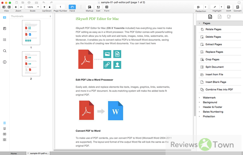 Best PDF Watermark Remover for Mac | ReviewsTown
