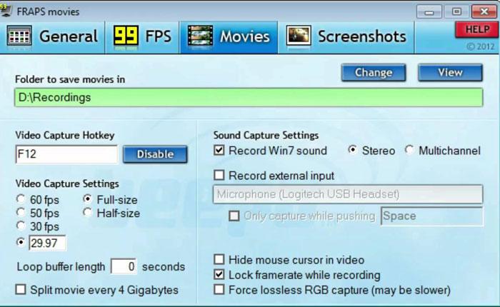 Fraps Screen Recorder