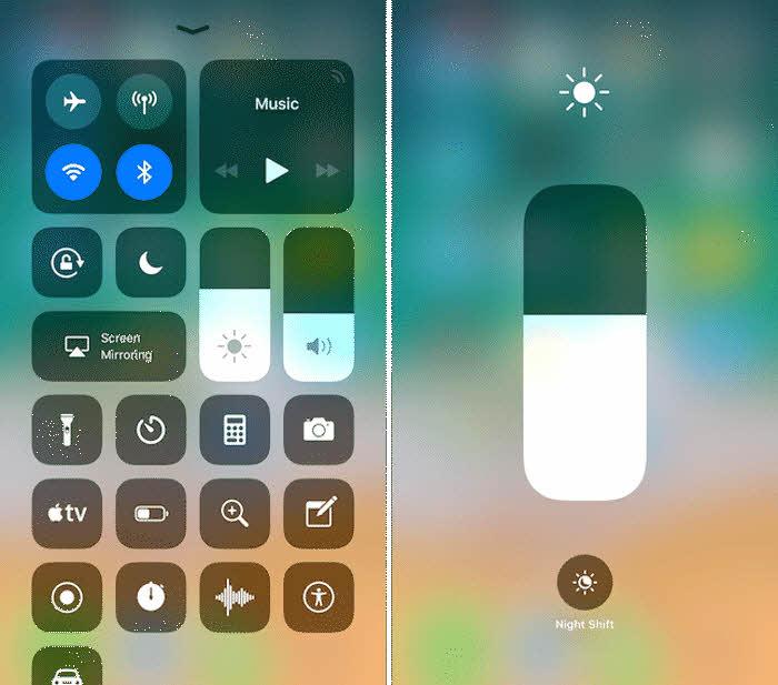 iOS 11 hidden features - Manual lighting setting