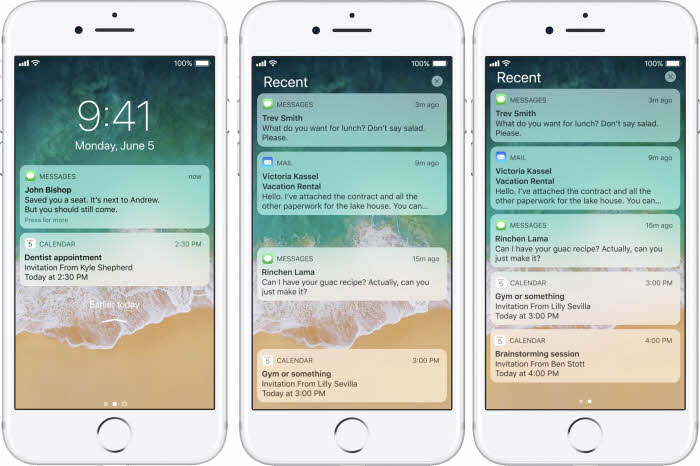 iOS 11 hidden features - Lock screen and notification center is combined
