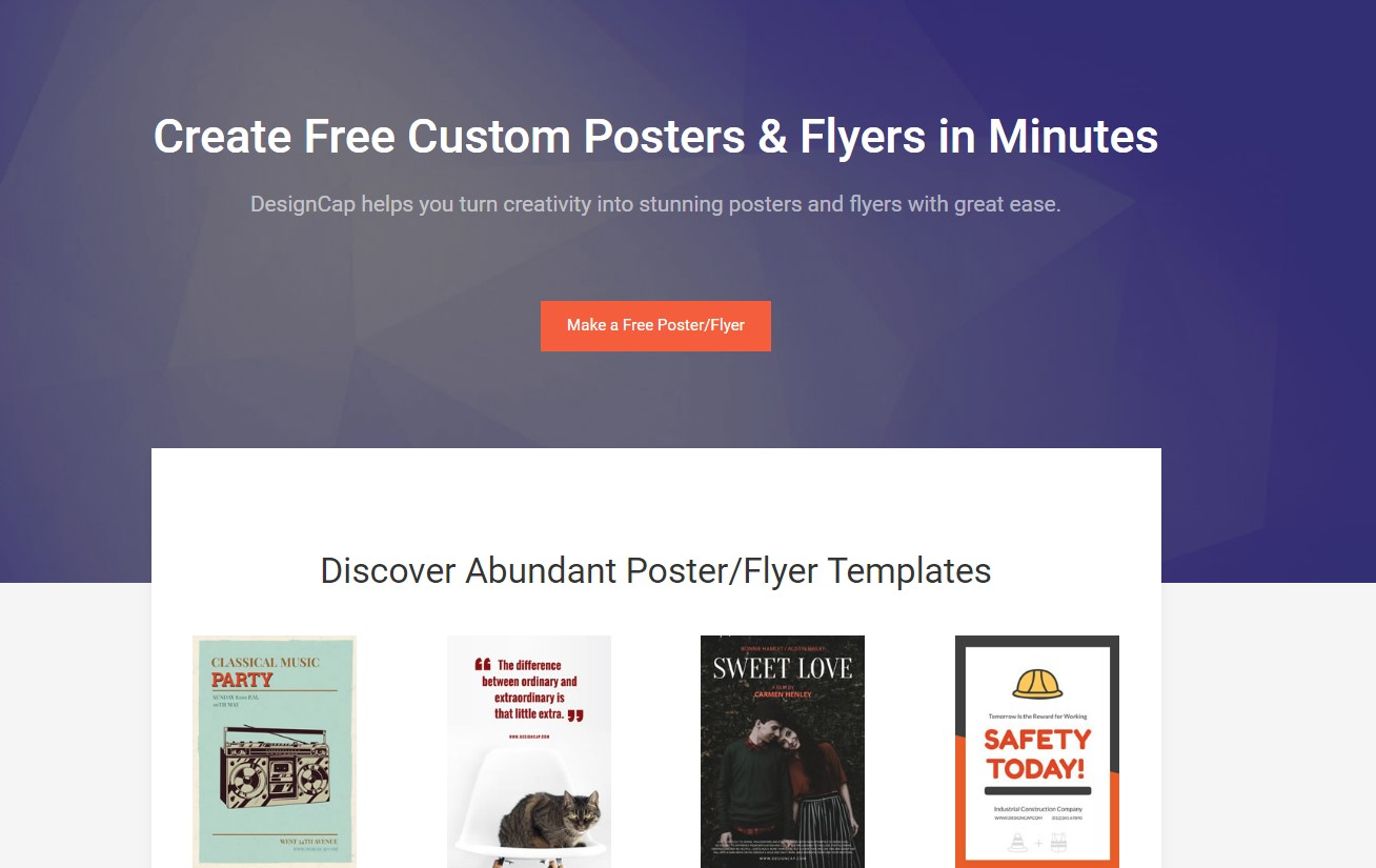 Free Online Poster Editor – DesignCap Review