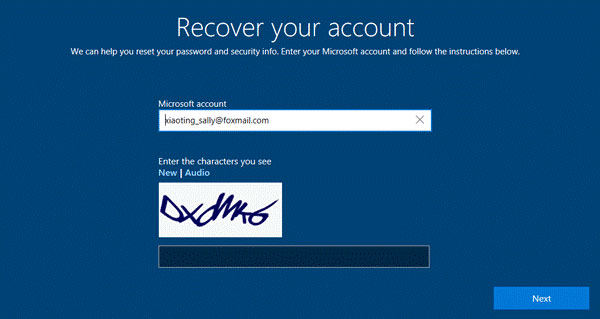 Recover Laptop Login Account