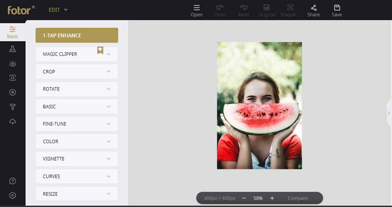 add effects to photos with fotor