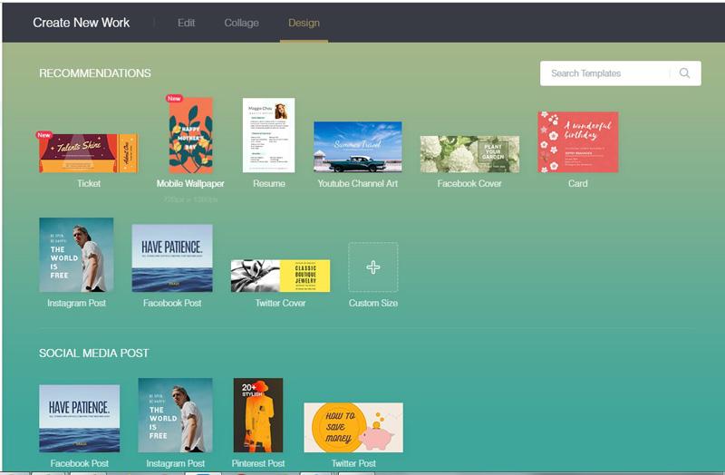 fotor graphic design templates