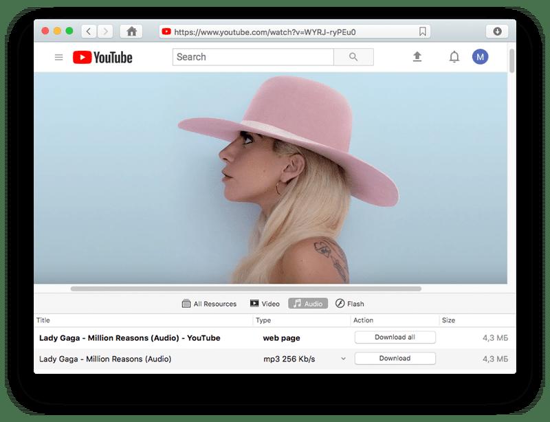 Download MP3 file on Mac